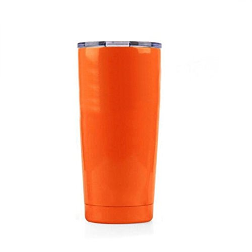 Aspire 20 Ounce Stainless Steel Tumbler, Double Walled Insulated Leak Proof Travel Cup with Resistant Lid, Keep Cold or Hot for Hours-Orange