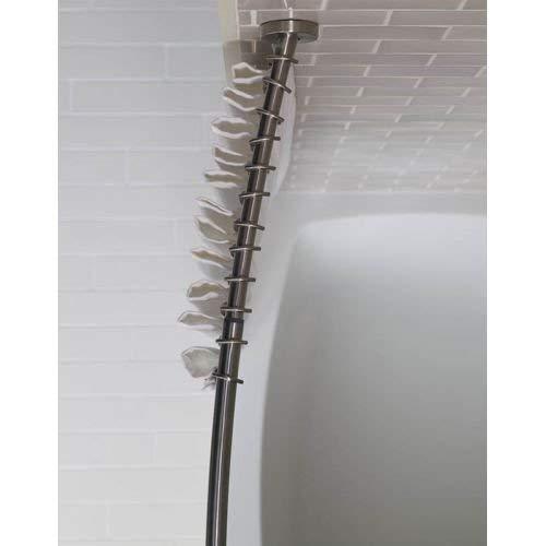 Kohler K-9350-S Expanse Curved Shower Rod - Transitional Design, Polished Stainless