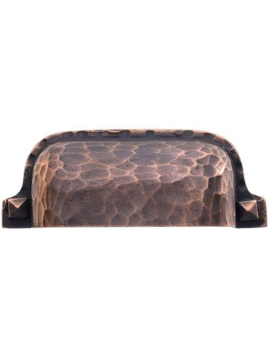 Hammered Craftsman Style Bin Pull in Oil-Rubbed Bronze - 3