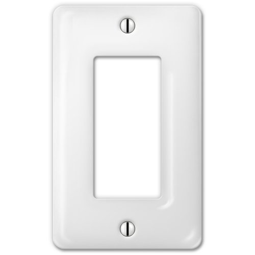 Porcelain Wall Plate - AmerTac 3020RW Classic White Ceramic Wall plate
