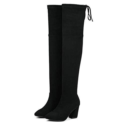 HAOLIEQUAN Mode Frauen Über Die Stiefel Klauen Heels Schuhe Warm Halten Alle Passen  | Ermäßigung
