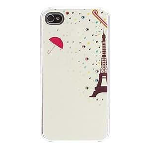 TY- Diseño de dibujos animados Torre Eiffel patrón duro caso para iPhone 4/4S