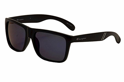 Champion Men's Matte Black polycarbonate Square - Champion Sunglass