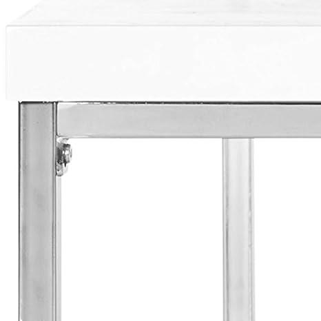 Safavieh FOX2214B Malone Coffee Table Black//Chrome