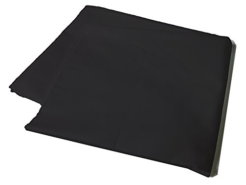 Body Pillow Cover Pillowcase, 400 Thread Count, 100% Cotton, 20 x 54 Non-Zippered Enclosure, 6 Colors Available (Black)