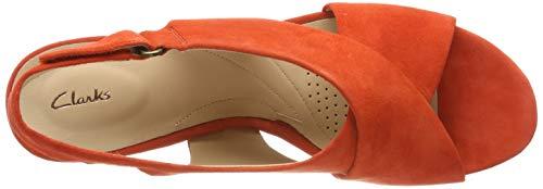 Lara arancione alla donna cinturino Clarks Maritsa Sandalo arancione da con caviglia apOwqgPx4g