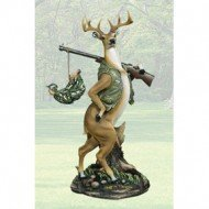 ter Hunting Statue Figure by Private Label (Comical Deer Hunter)
