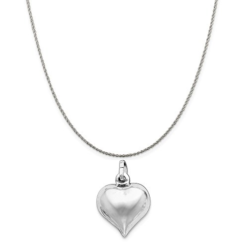 Sterling Silver Puffed Heart C