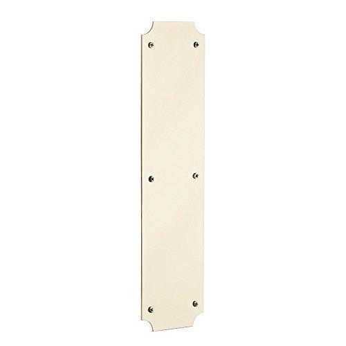 Baldwin 2275.003 Lifetime Polished Brass Scalloped Push Plate,3.5