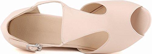 CFP - Zapatos con tacón mujer color carne