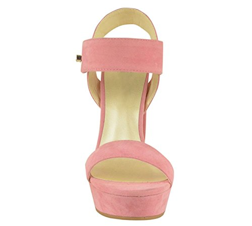 En Plate Femmes forme Or Bout Taille Dames Rose Haut Boucle De Talon Daim Partie Découpé Été Chic Sandales Bébé La Ouvert Chaussures HxPdCw