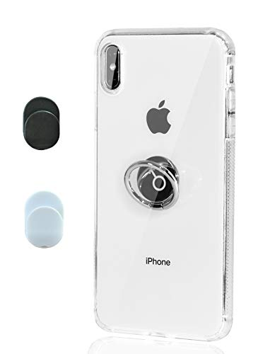 Chitri iPhone Xs Max Case Clear, [Dust-Proof] with Ring Grip Stand 360 Rotating Ring Holder Kickstand [Support Magnetic Car Mount] Transparent Soft TPU Slim Thin Cover for Apple iPhone Xs Max 6.5