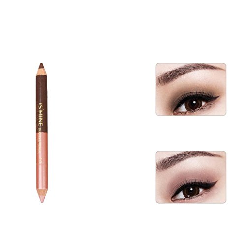 Fheaven Double-headed Pearling Eyeshadow Pencil Lie Silkworm Pen Durable Waterproof Eyeshadow Pencil (D)