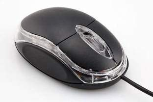 Techbloggers Wired Optical Mouse with USB Interface (Black)