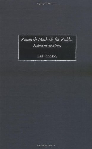 Research Methods for Public Administrators Pdf
