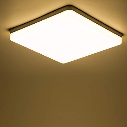Yafido LED Lampara de Techo Moderna 48W Plafon Led Cuadrado Ultra Delgado Downlight lanco Calido 3000K 4320LM adecuada para Cocina Balcon Dormitorio Corredor Sala de Estar 30 30 4cm