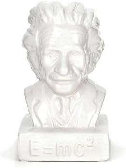Kikkerland Tirelire Einstein c/éramique blanche
