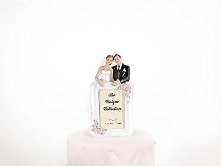 Bilderrahmen SiDeSo/® Tortenaufsatz Hochzeit Tortendeko Brautpaar Tortenfigur