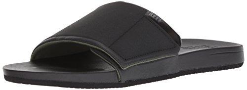 (Reef Men's Cushion Bounce Slide Sandal, Black, 80)