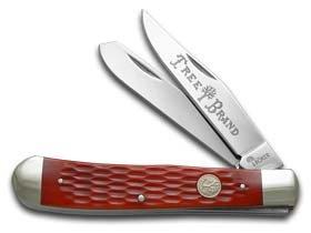 Boker Knives 110747 Trapper Jigged Pocket Knife, Red Bone