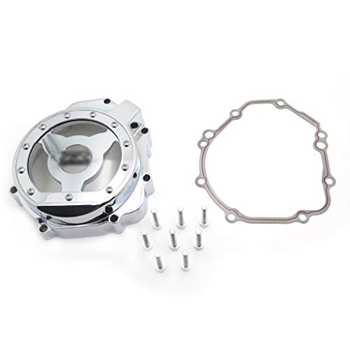 HTT- Chrome Left Engine Stator Cover See Through For Suzuki 2004 Gsxr 750 1000