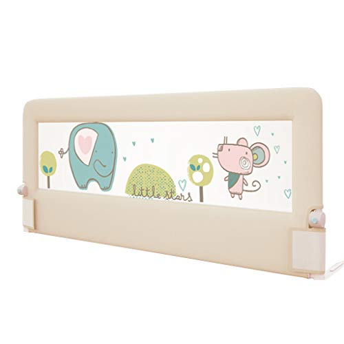 - Premium Bed Rail Infants Safety Guardrail, Baby Safety Tall Bed Guard Rail for Toddlers/Kids/Children for Convertible Crib, Kids Twin, Double Bed Elephant Print