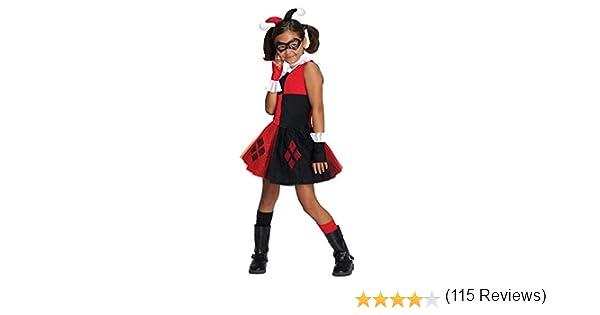 Girls Harley Quinn Tutu Fancy dress costume Small: Amazon.es ...