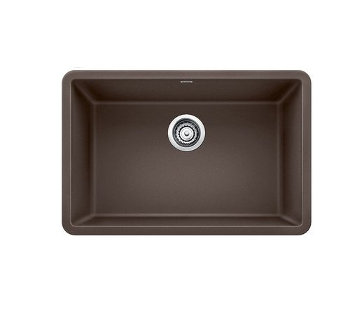 "Blanco 27-27x18 522433 Precis 26-13/16"" Single Bowl Silgranit Undermount Kitchen Sink CAFÉ Brown, 25"" x 22"" x 8.6"" Cafe"
