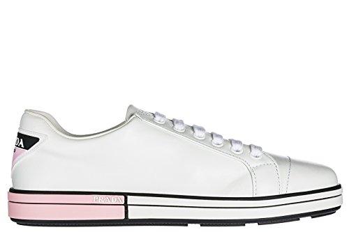 Sneakers Da Donna Prada Scarpe Da Ginnastica In Pelle Da Donna Bianche