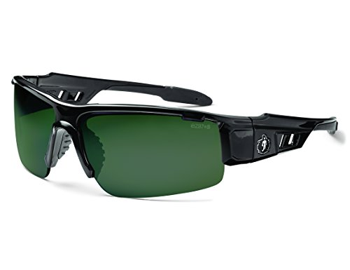Skullerz Dagr Polarized Safety Sunglasses- Black Frame, G15 - G15 Lenses