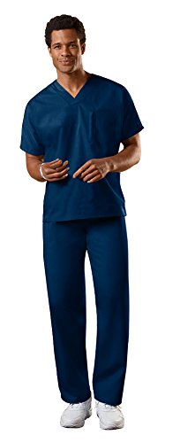 Cherokee Uniforms Authentic Workwear Unisex Scrub Set (Navy - Large)