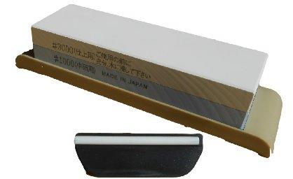 Suehiro Japanese Whetstone Sharpening Water Stone Knife Sharpener and Naniwa QX-0010 Blade Angle Guide : Bundle - 2 Items Suehiro & Naniwa
