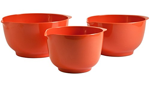 Hutzler Melamine Mixing Bowl Set: 2, 3 and 4 Liters, Orange - Orange Small Bowl
