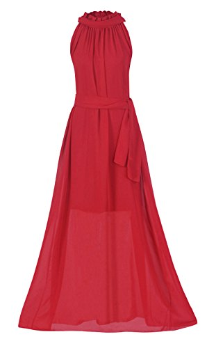 - Howriis Women's Chiffon Wedding Party Bridesmaid Formal Dress (One Size, Red)