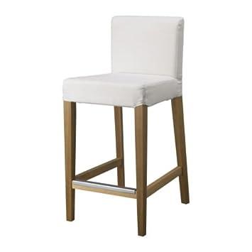 Incredible Ikea Henriksdal Bar Stool With Backrest Oak Gobo White Inzonedesignstudio Interior Chair Design Inzonedesignstudiocom