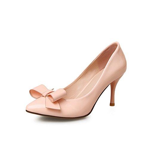 Balamasa Kvinners Slip-on Pigger-stiletter Solid Lakksko Pumper-sko Rosa