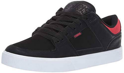 Osiris Men's Protocol Skate Shoe Black/red/Diamond 9 M US