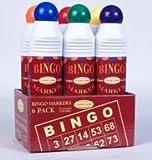 Bingo Markers/Daubers, Set of Six 4.0 FL Oz. Bottles