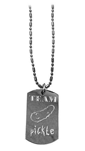 Hat Shark Team Pickle Logo Symbol Show - Military Dog Tag, Luggage Tag Metal Chain Necklace