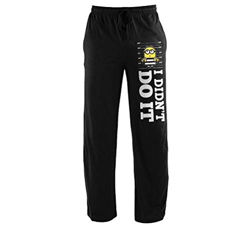 Despicable Me Minions Adult Size Black Lounge Sleep Pants -