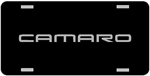 Camaro Chrome License Plate Gloss black