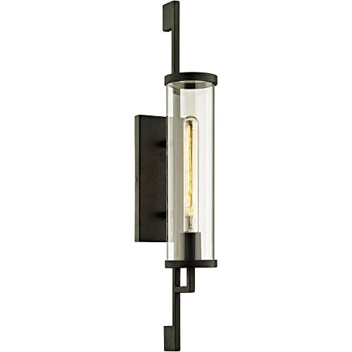 Incandescent Sconce Troy (Troy Lighting B6462 Park Slope Outdoor Wall Sconce, Medium Forged Iron)