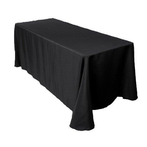LinenTablecloth Rectangular Economy Polyester Tablecloth, 90 by 156-Inch, Black (Black Linen Tablecloths)
