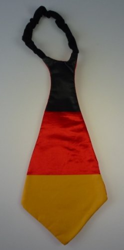 "Mega Fan Krawatte ""Deutschland"" 43 x 20 cm, EM, WM, Fussball, Weltmeisterschaft, Fanartikel div"