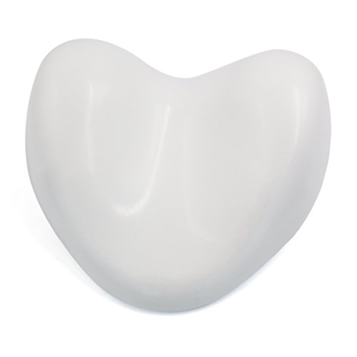 uxcell White Waterproof Heart Shape Soft Spa Bath Pillow Nec