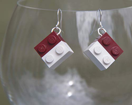 University of Alabama Earrings Bama Jewelry STERLING SILVER Hooks for Crimson Tide Bama Football Tailgating