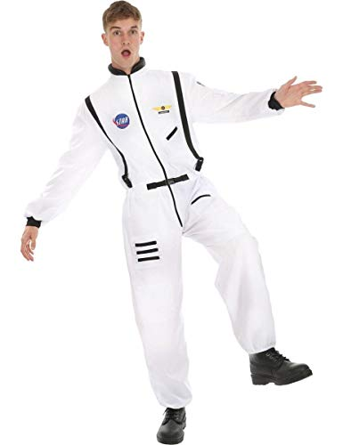 Adult Men's White Astronaut Fancy Dress Costume Standard