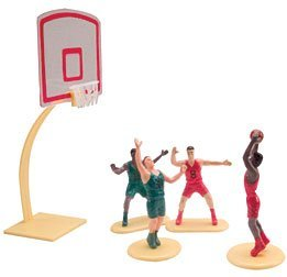 Cake Topper Decoration Kit (Cake Decorating Kit CupCake Decorating Kit Sports Toys (Basket Ball)