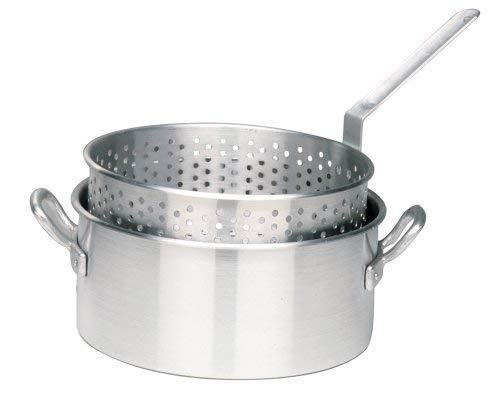 Bayou Classic 1201 10-Qt. Aluminum Fry Pot with Basket - No Lid by Bayou Classic