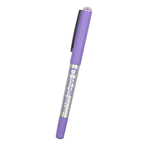 - Eyeye PVN159.5 Coloful Liquid Ink Roller Ball Pen 0.5mm Fine Point Needle Nib Violet Ink( Pack of12)